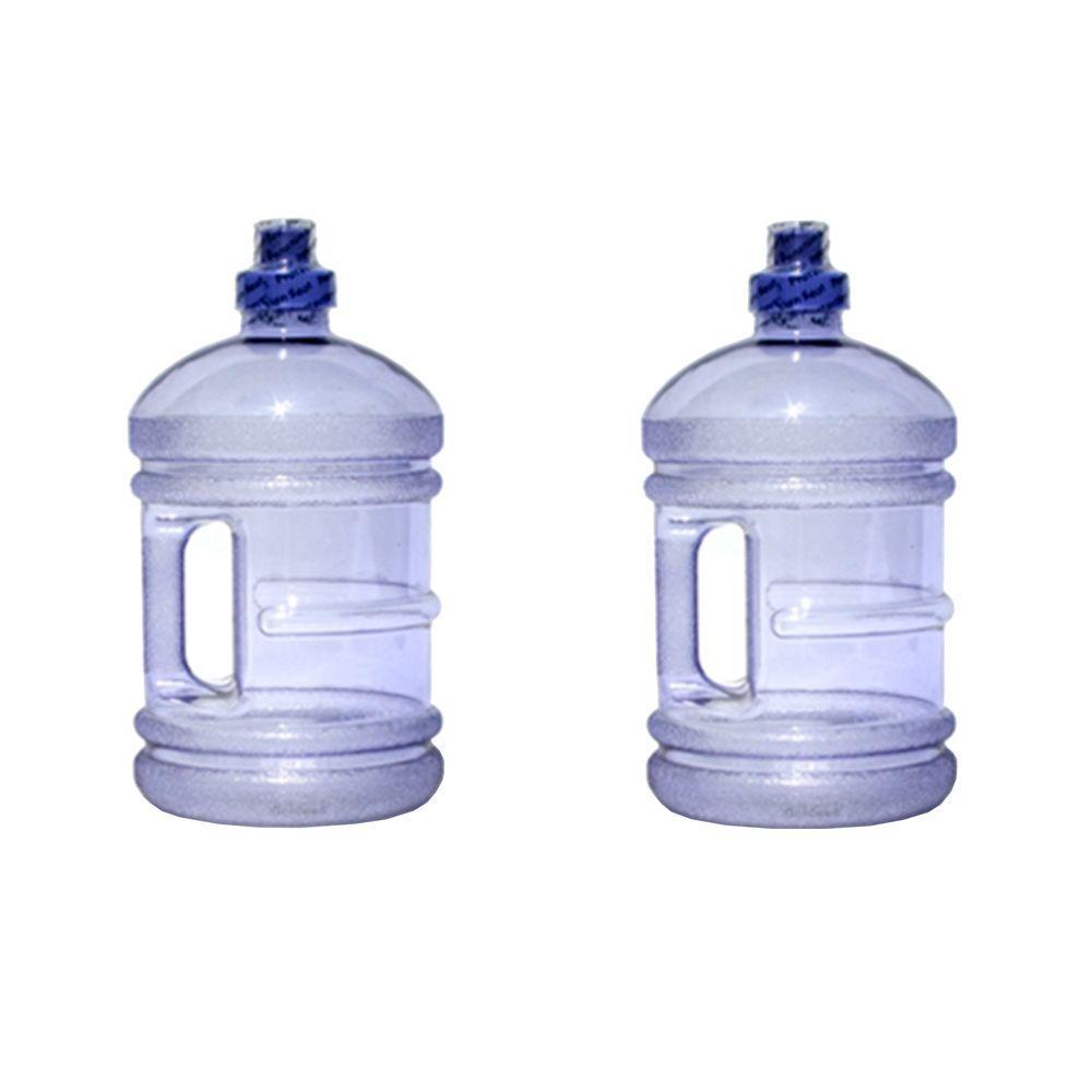 H8O 64 oz. BPA Free Water Jug with Handle in Purple (2-Pack)