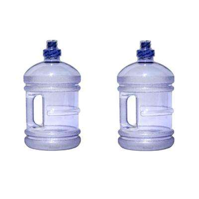 H8O 64 oz. BPA Free Water Jug with Handle in Purple (2-Pack)