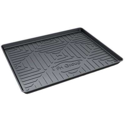 Black Ultimate Weather Proof TPO Plastic 32 in. x 24 in. x 2 in. Medium Cargo Mat/Tray