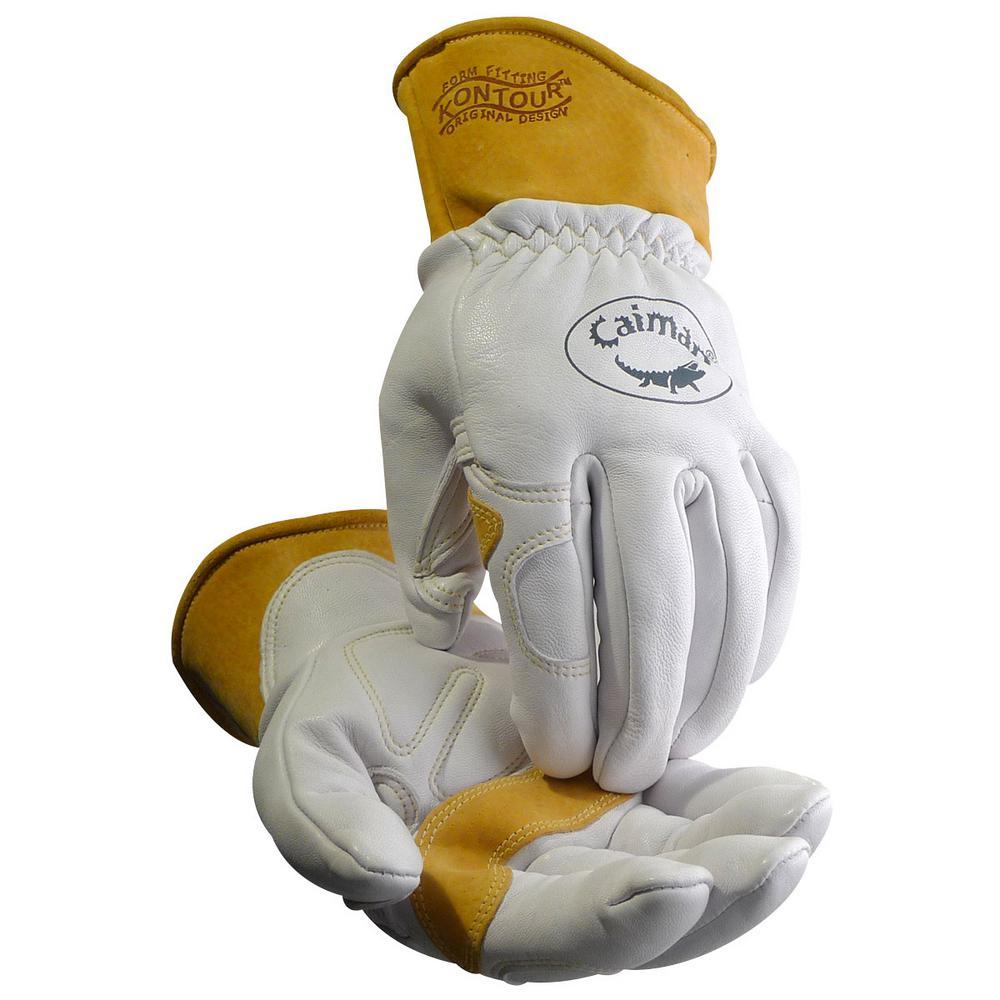 Extra Large Pearl Ergonomic Goat Skin Multi-Task Gloves