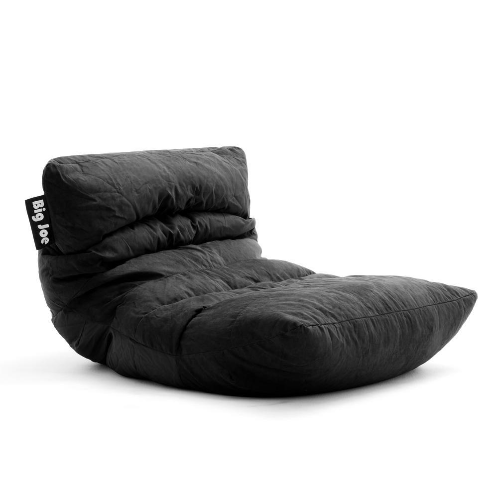 Roma Chair Black Comfort Suede Plus Bean Bag
