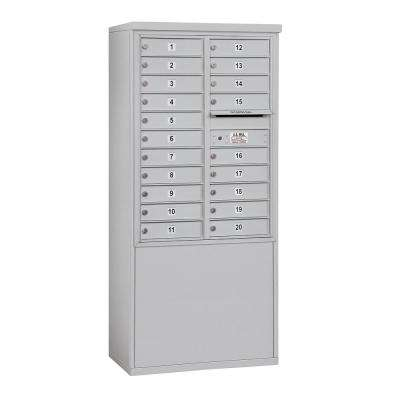3900 Horizontal Series 20-Compartment Free Standing Mailbox