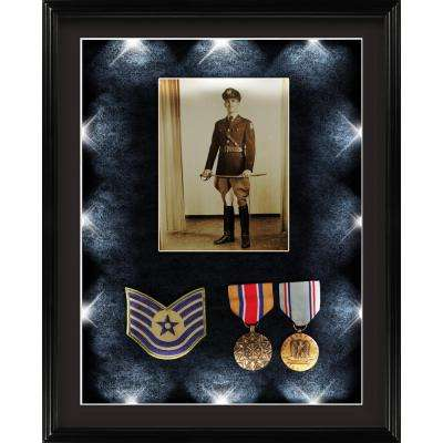 16. in. x 21 in. LED Shadowbox Display Case Frame