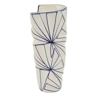 13.75 in. Porcelain White Vase