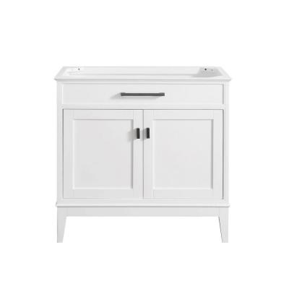 Madison 36 in. W x 21 in. D x 34 in. H Vanity Cabinet in White