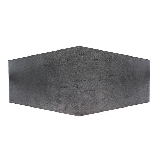 Castle Rock Gray 9.5 in. x 19.5 in. Matte Porcelain Hexagon Wall and Floor Tile (12.15 sq. ft./Case)