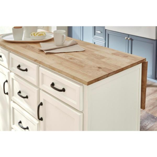 Home Decorators Collection Home Decorators Collection Ivory Kitchen Island With Natural Butcher Block Top Sk19304er1 V The Home Depot