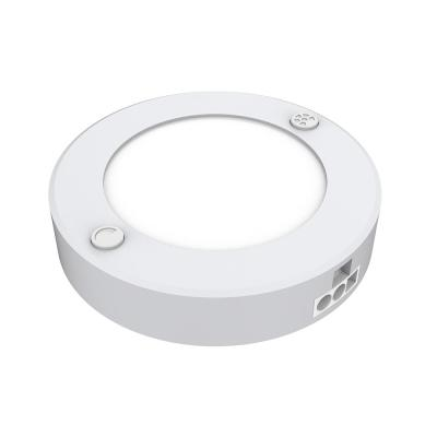 Plug-In LED White AC Puck Light, Linkable with Color Change CCT Selectable