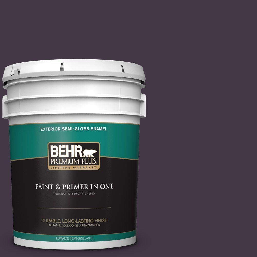 5-gal. #ECC-17-3 Napa Harvest Semi-Gloss Enamel Exterior Paint