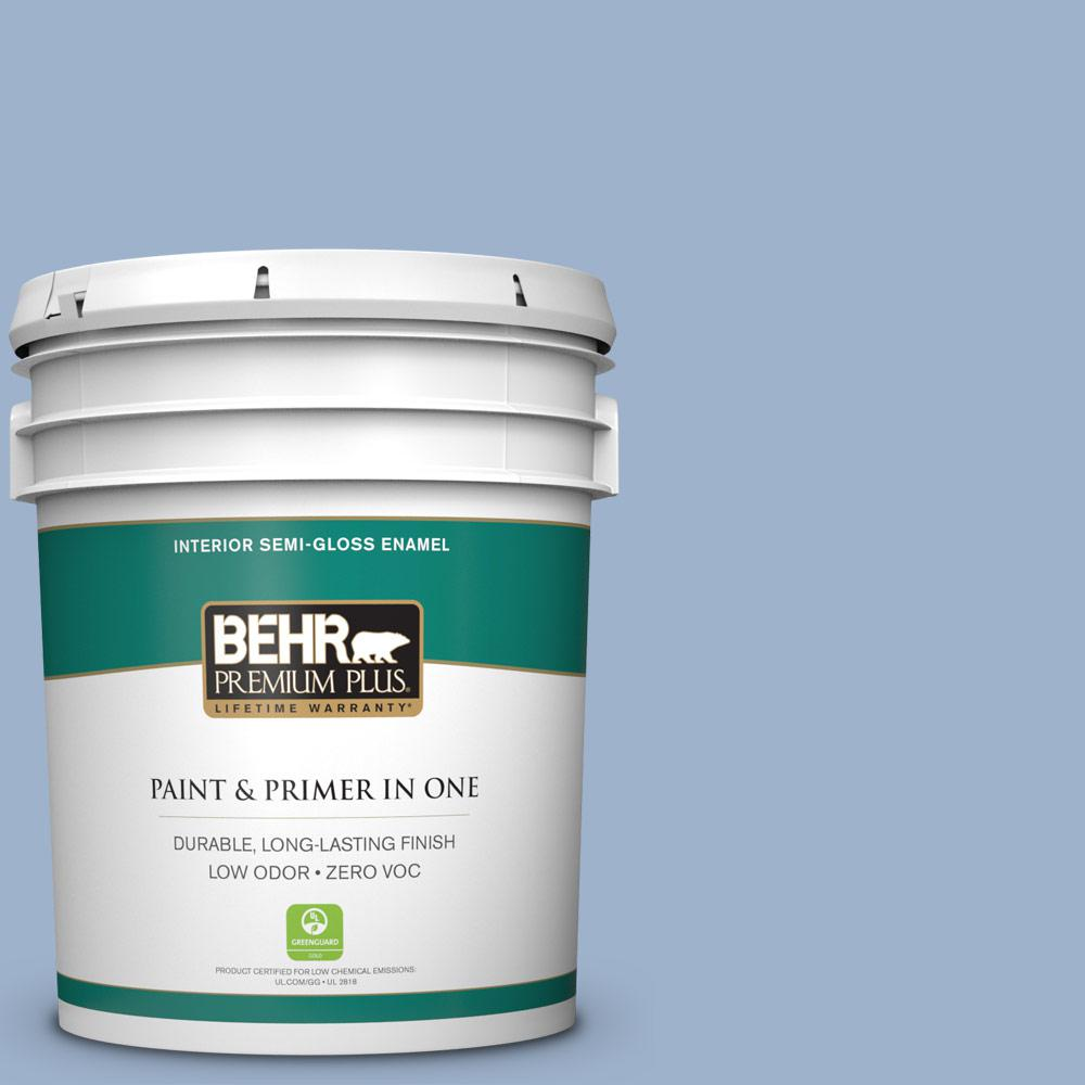 BEHR Premium Plus 5-gal. #S530-3 Aerial View Semi-Gloss Enamel Interior Paint