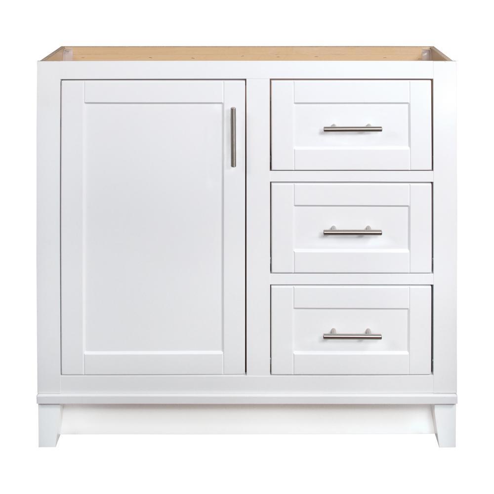Kinghurst 36 in. W x 21 in. D x 33.5 in. H Bathroom Vanity Cabinet Only in White