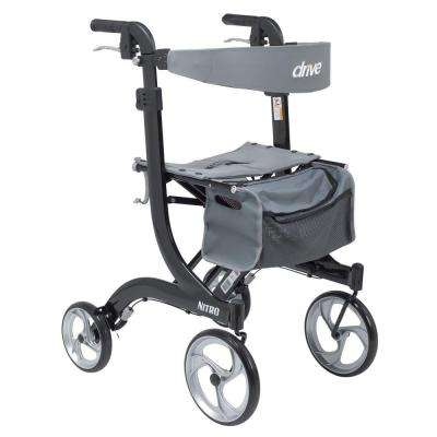 Nitro Euro Style Walker Rollator - Tall in Black