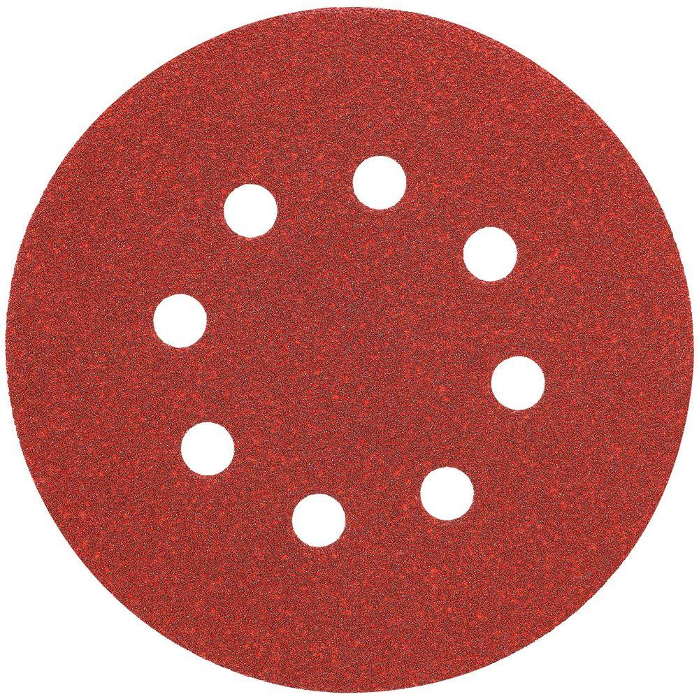 5 in. 8 Hole 120-Grit H and L Random Orbit Sandpaper
