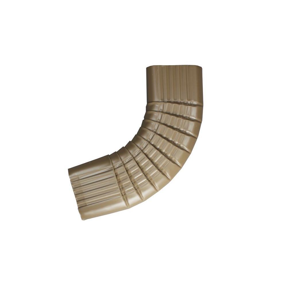 2 in. x 3 in. Cocoa Brown Aluminum Downpipe - B Elbow