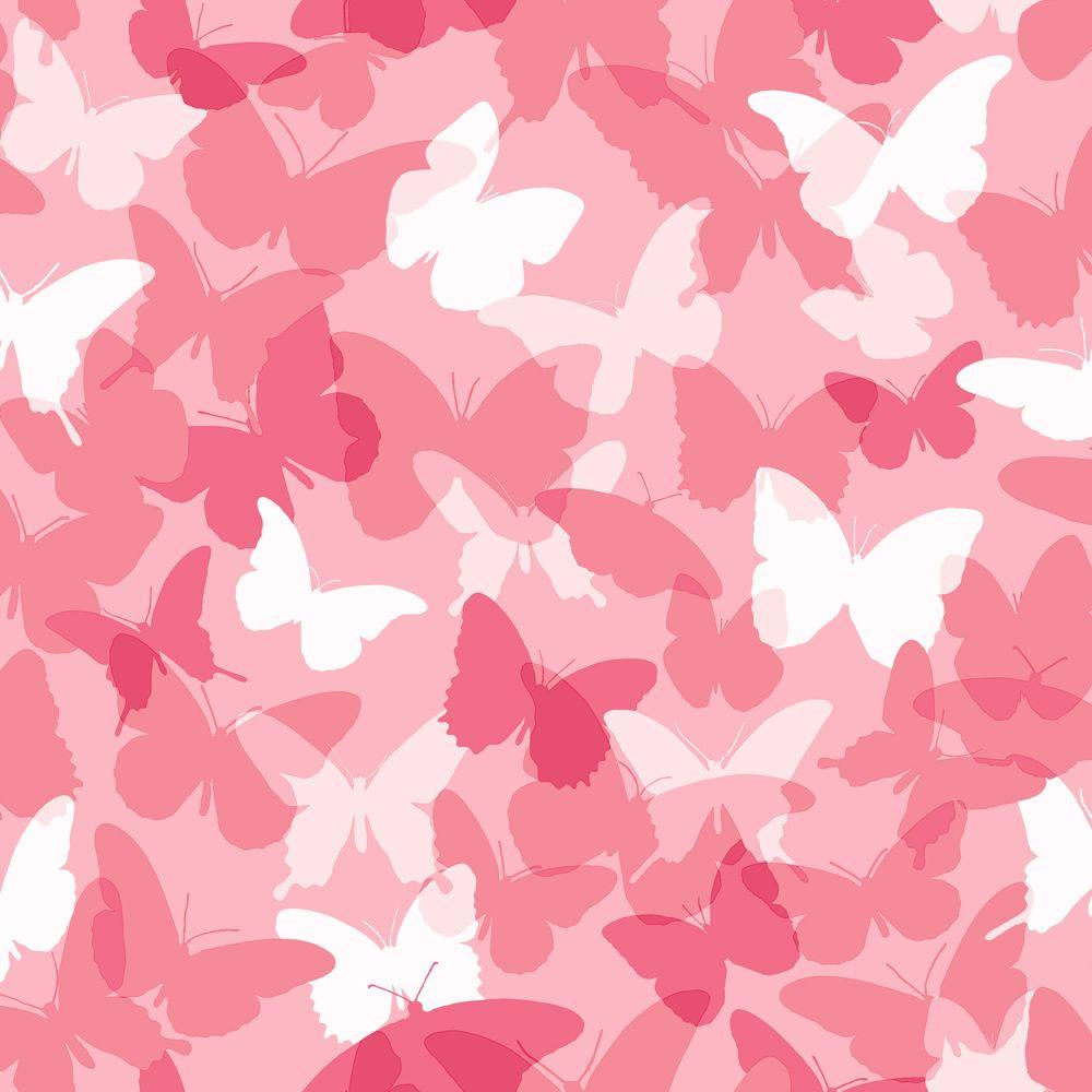 York Wallcoverings 56 sq. ft. Butterfly Camo Wallpaper-DISCONTINUED