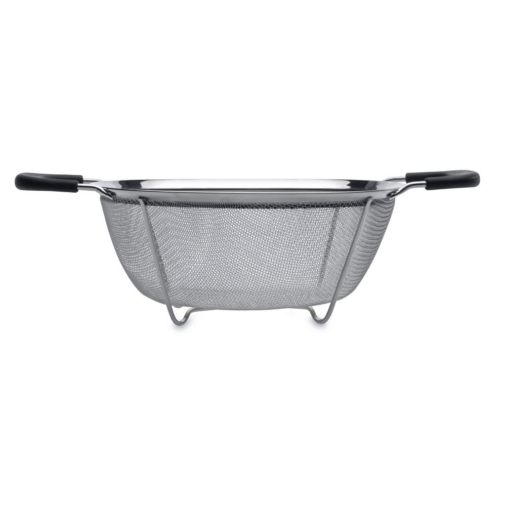 Essentials 8.86 in. Stainless Steel Round Mesh Colander
