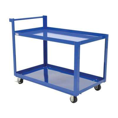 Steel Service Cart with Two 28 x 48 Shelves