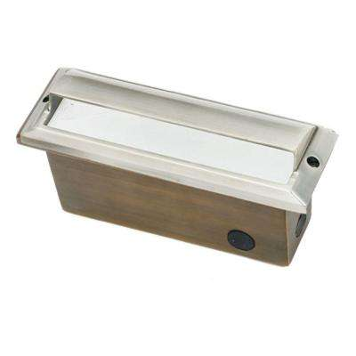 1-Light Stainless Steel Die Cast Brass Brick Step Light