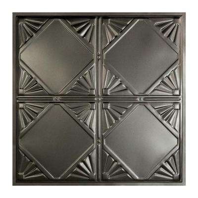 Erie 2 ft. x 2 ft. Lay-In Tin Ceiling Tile in Argento (20 sq. ft./case)