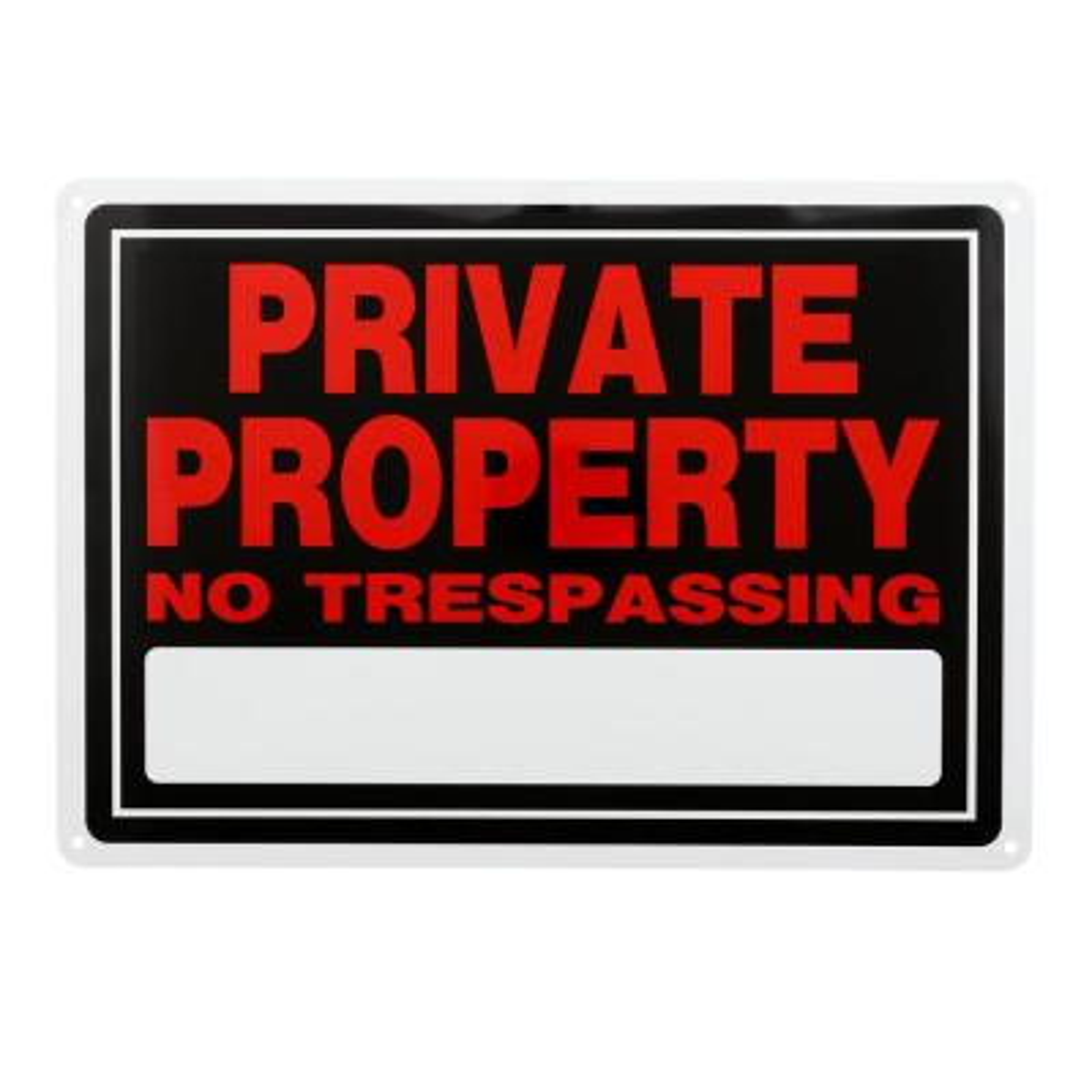10 in. x 14 in. Aluminum Private Property Sign
