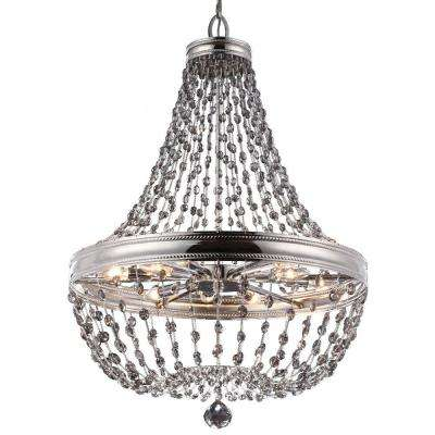 Malia 12-Light Polished Nickel Large Pendant