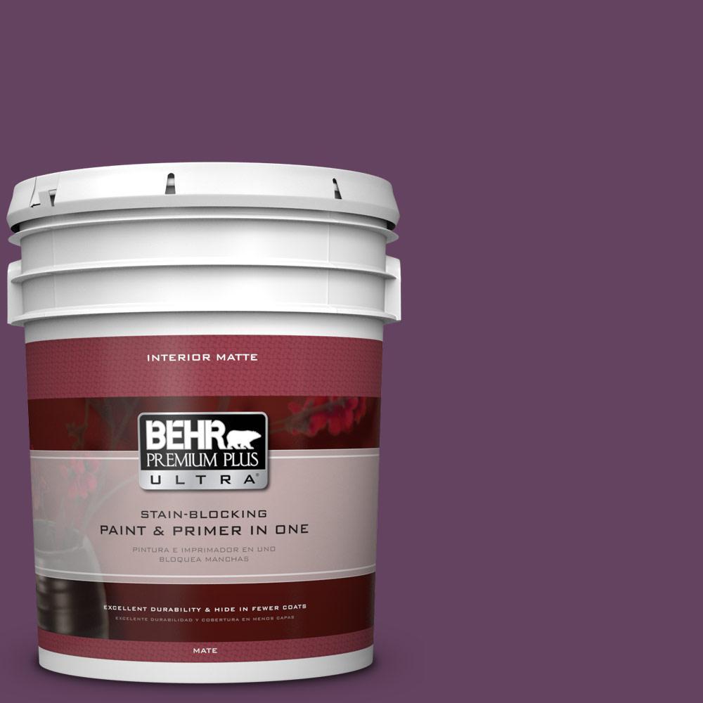 5 gal. #BIC-36 Grape Fizz Matte Interior Paint