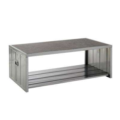 Lispen Hand-Brushed Silver Coffee Table