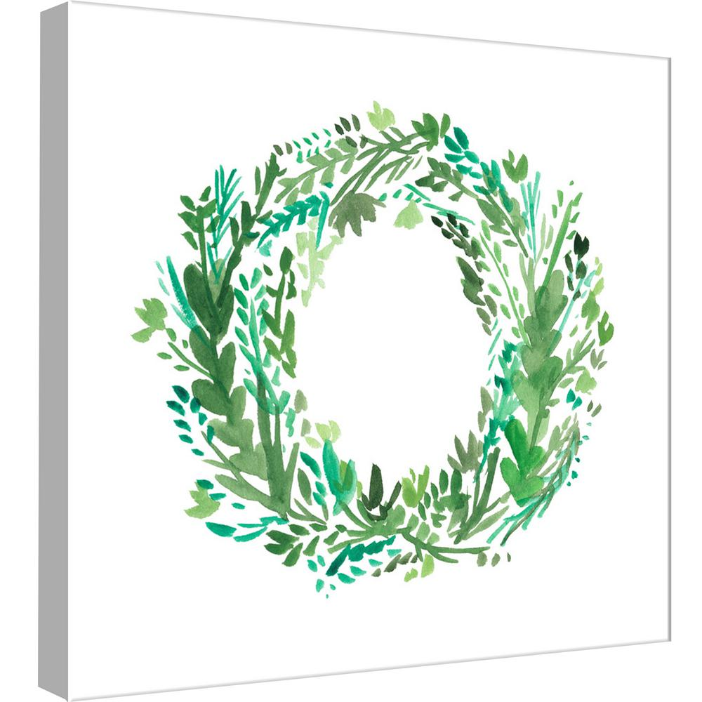 15 in. x 15 in. ''Wreath 6'' Printed Canvas Wall Art