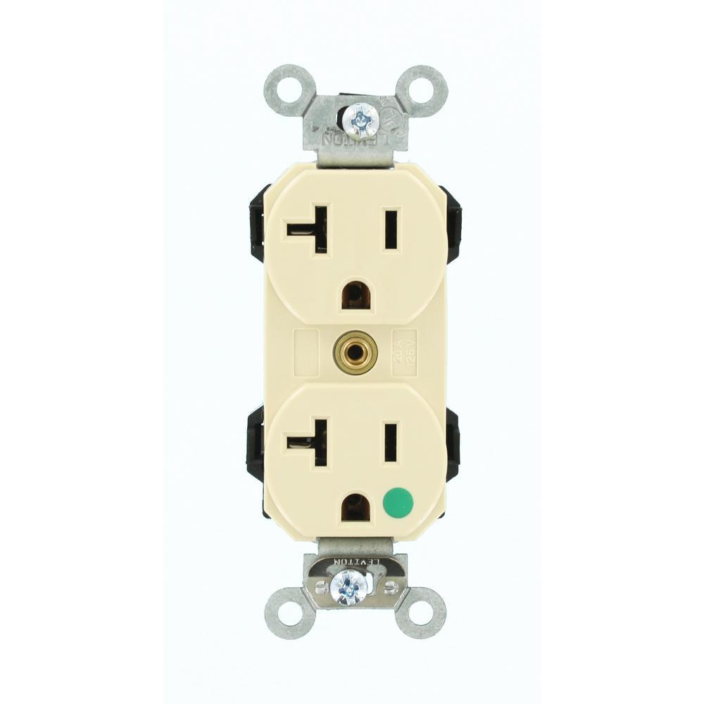 20 amp lev-lok modular wiring device hospital grade extra heavy duty self  grounding duplex