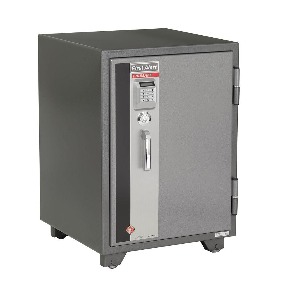 First Alert 2.02 cu. ft. Capacity and Solid Steel Construction Fire Resistant Digital Live Locking Safe