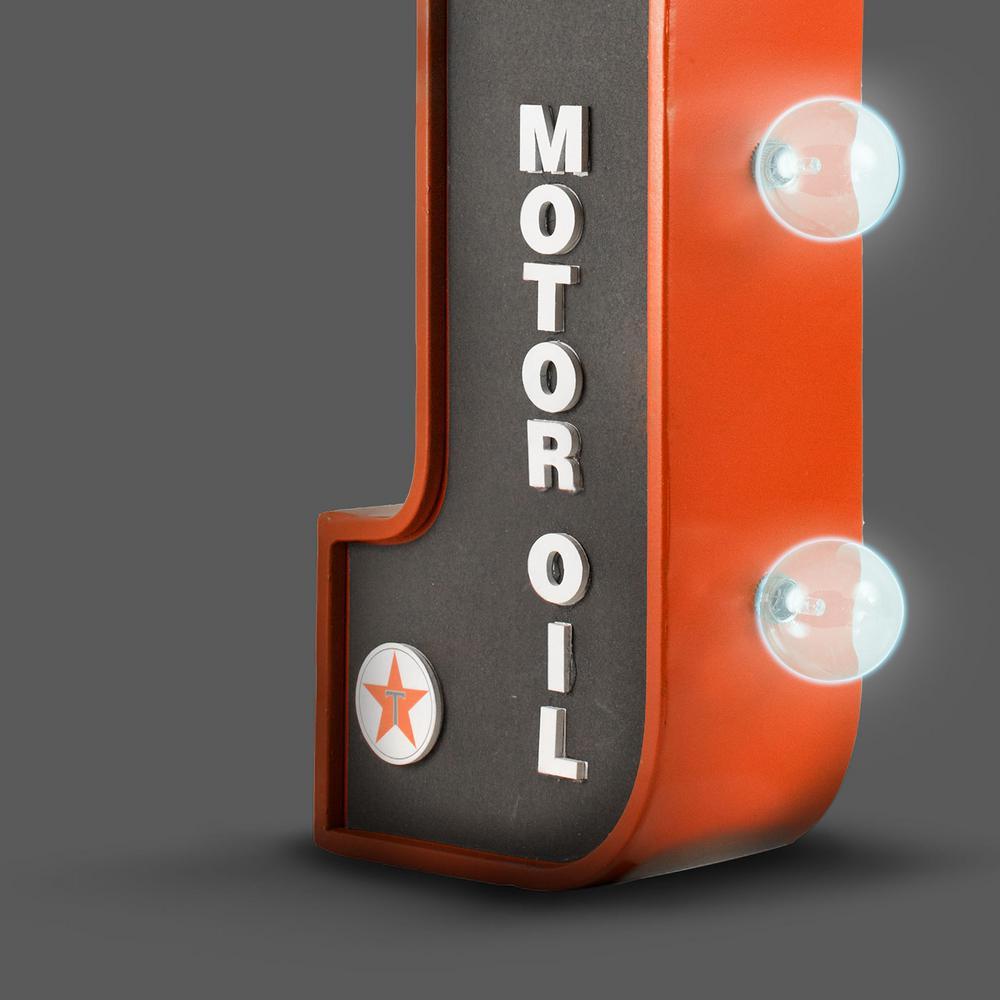 Crystal Art Gallery Texaco Gasoline Motor Oil Gas Station LED Sign Home Decor