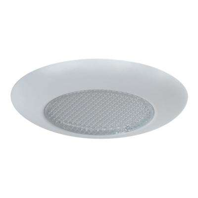 4 in. Matte White Recessed LED Lensed Trim