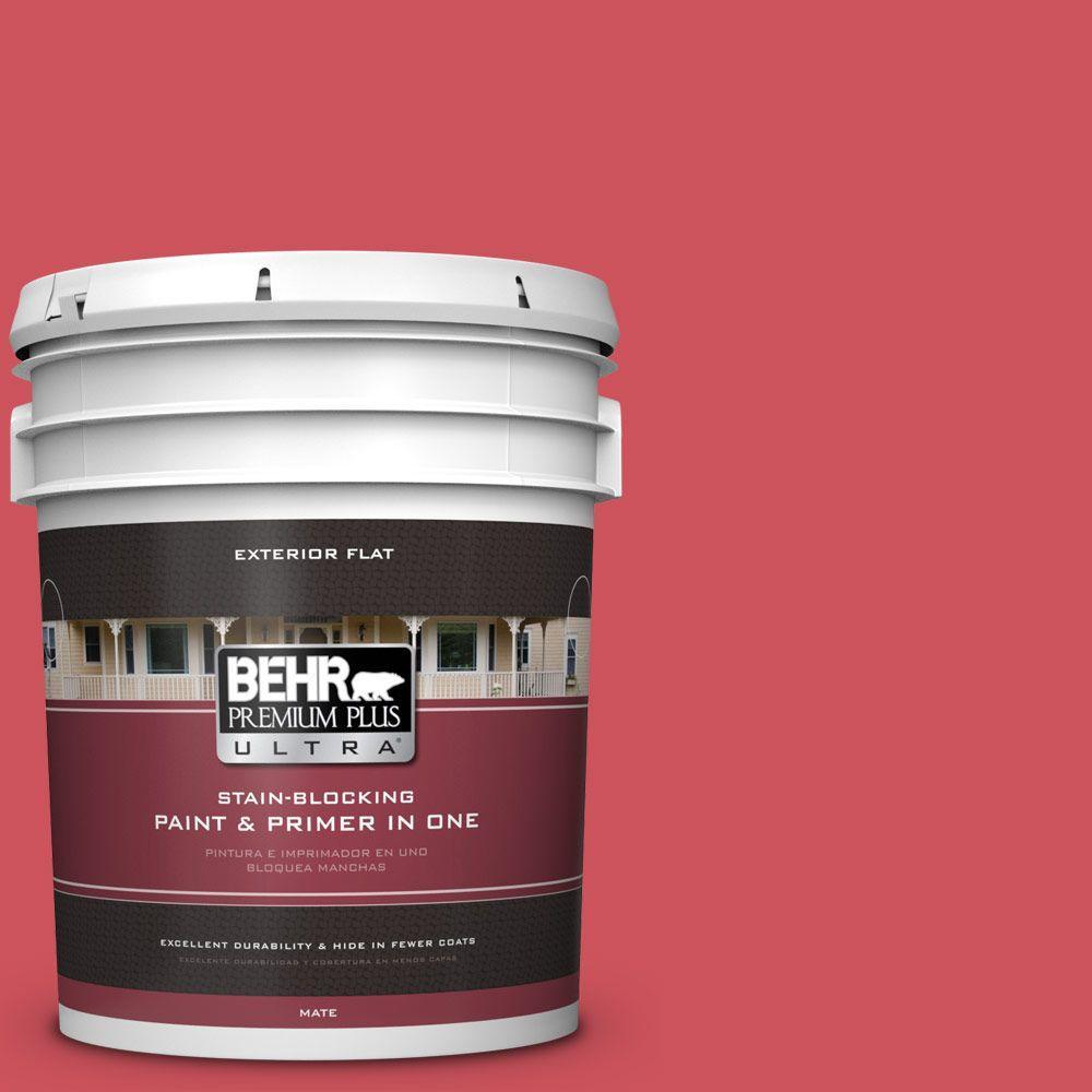 BEHR Premium Plus Ultra 5-gal. #T15-14 Super Hero Flat Exterior Paint