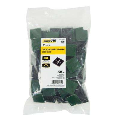 1 in. Adhesive or Screw Cable Tie Mount, Black, 100-Pack (Case of 5)