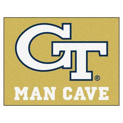 Georgia Tech Gold Man Cave 3 ft. x 4 ft. Area Rug