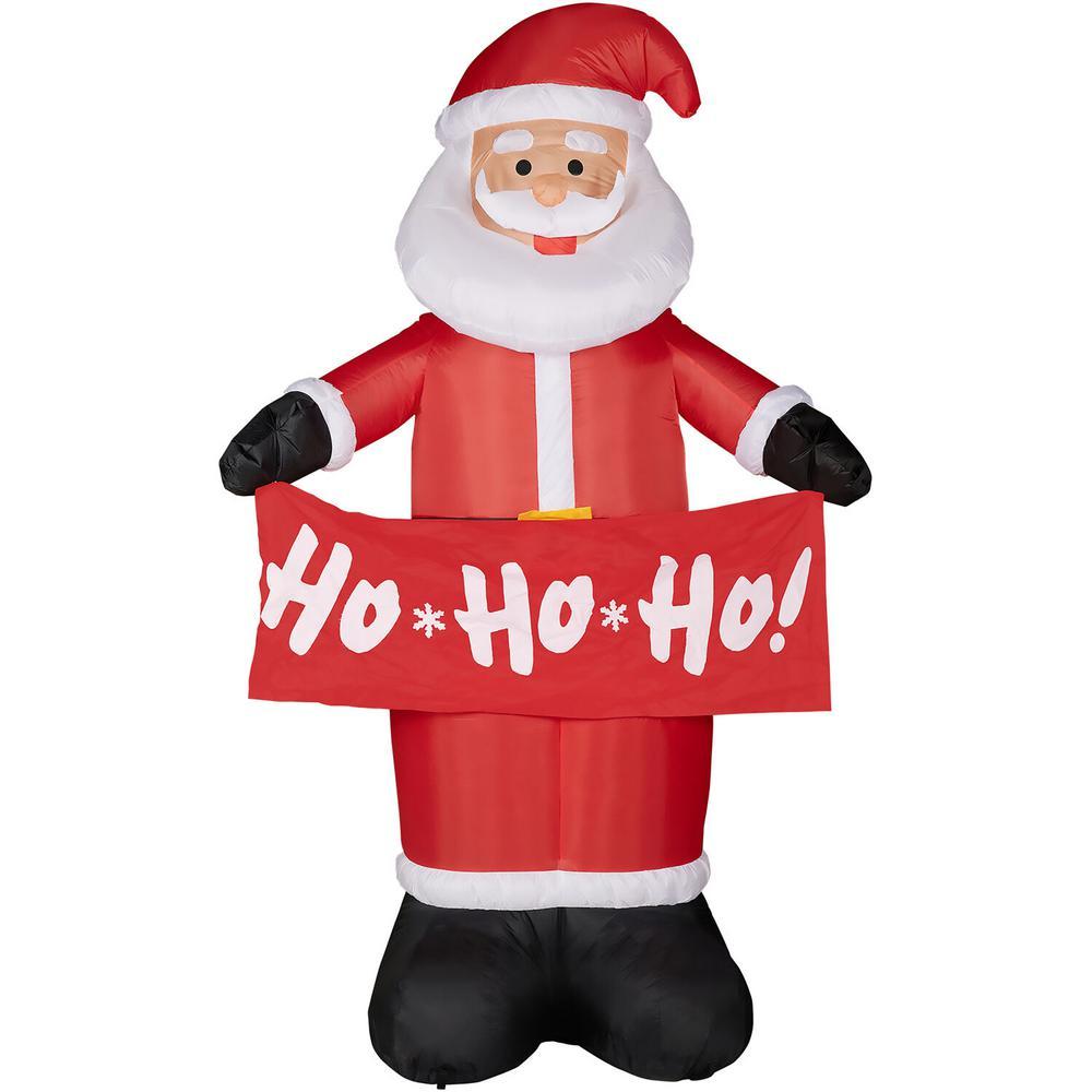 10 ft. Santa Holding a HO HO HO Banner Christmas Inflatable