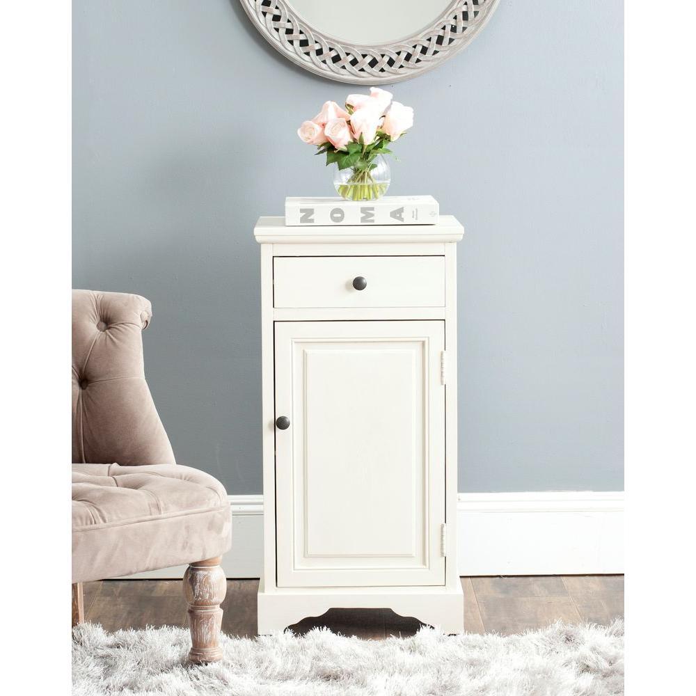 Jett White Storage Cabinet