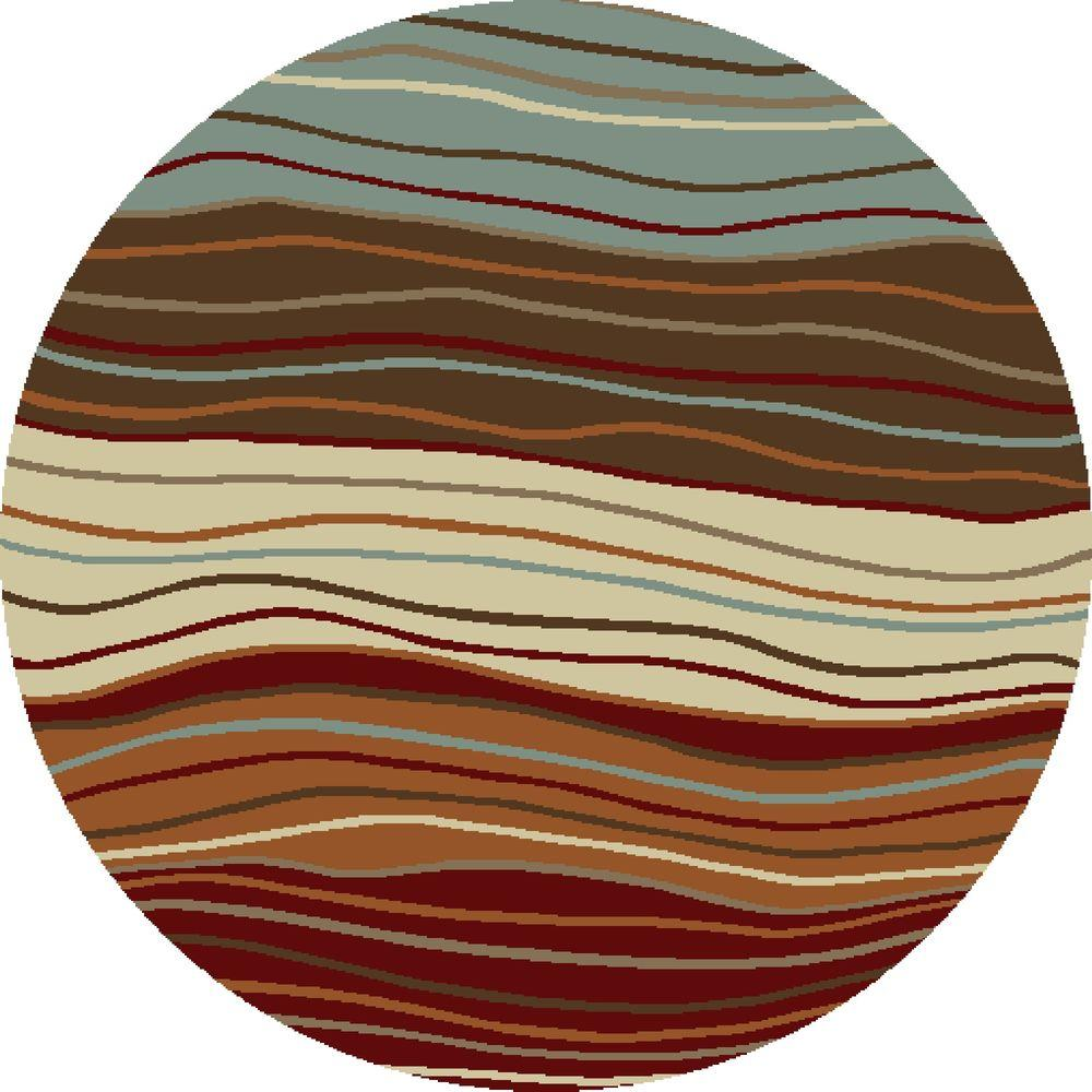 Chester Waves Multi 7 ft. 10 in. Round Area Rug
