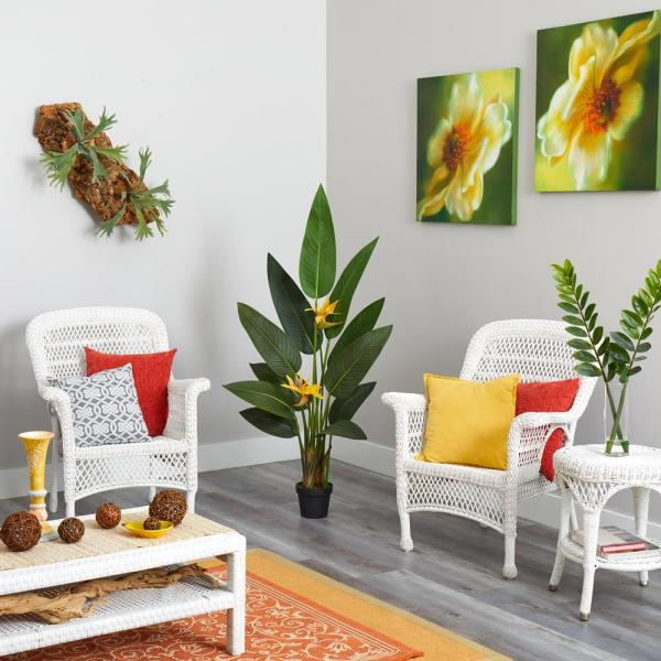 4.5 ft. Bird of Paradise Artificial Plant (Real Touch)