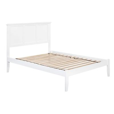 Madison Full Platform Bed with Open Foot Board in White