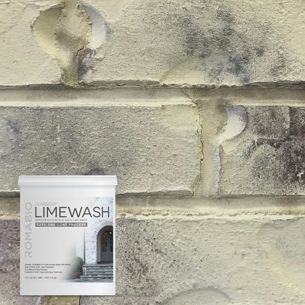 1 qt. Tropea Beige Limewash Interior/Exterior Paint