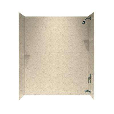 30 in. x 60 in. x 72 in. 3-Piece Easy Up Adhesive Tub Wall in Tahiti Desert