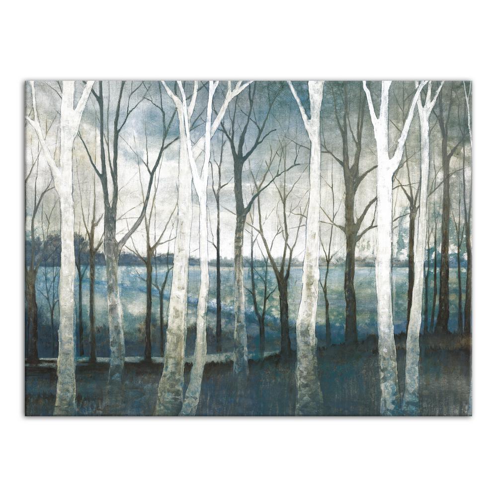 30 in. x 40 in. ''Birch Tree Marsh'' Printed Canvas Wall Art