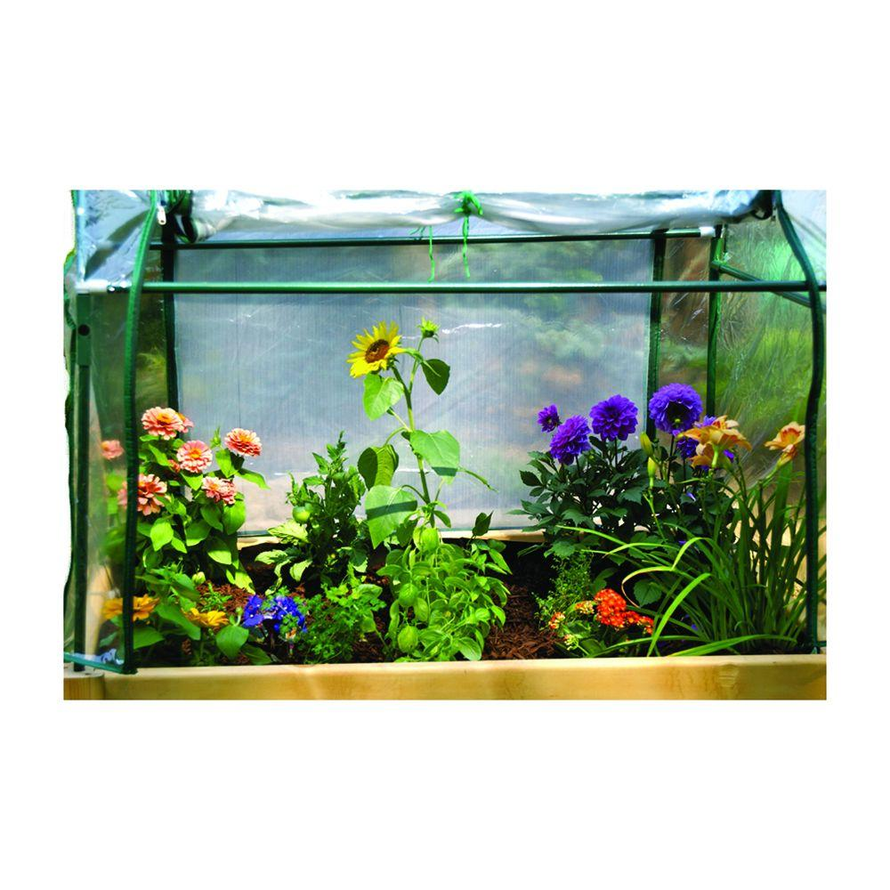 Eden 3 ft. x 4 ft. Plastic Raised Garden Table Optional Enclosure (Enclosure Only)