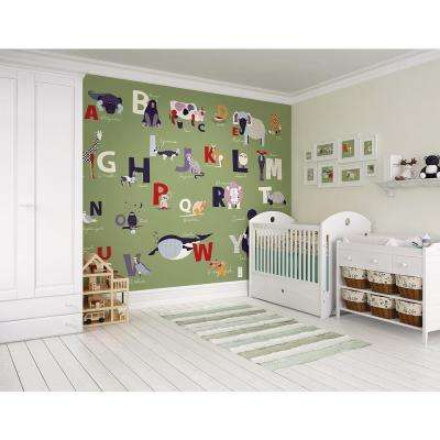 118 in. x 98 in. Alphabet Wall Mural