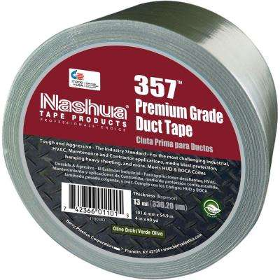 4 in. x 60 yds. 357 Ultra Premium Olive Drab Duct Tape