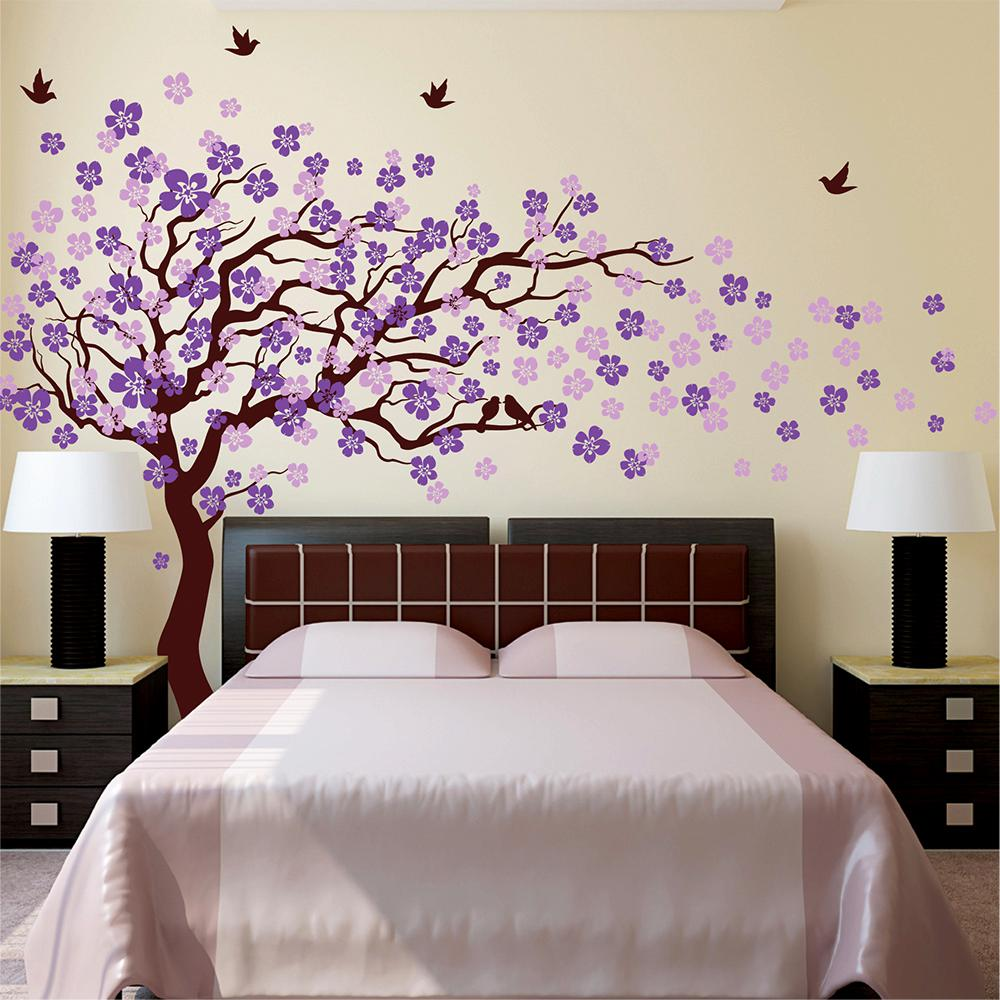 144 In X 83 In Cherry Blossom Tree Removable Wall Decal