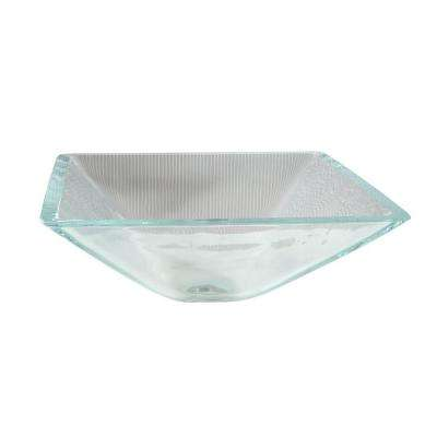 Cantrio Crystal Glass Pyramid Vessel Sink in Clear