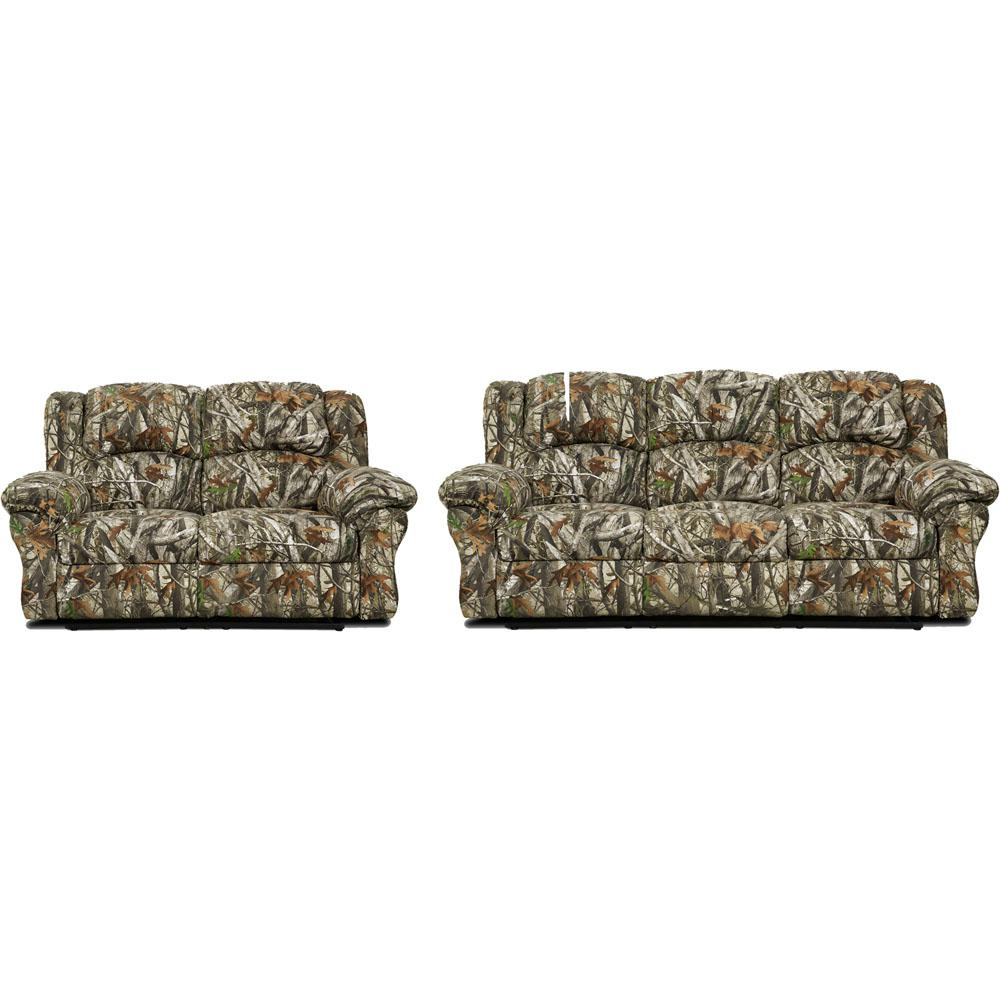 Cambridge 2-Piece Camo Sofa, Loveseat Living Room Set-98507A2PC-CA ...