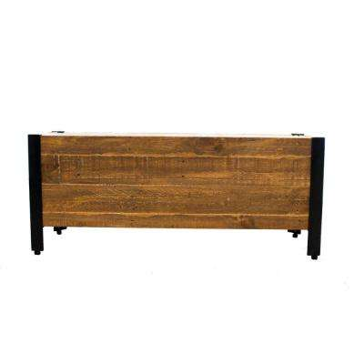 37 in. x 15 in. Urban Garden Brown Recycled Wood Planter